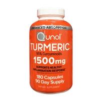 Qunol 高浓度吸收姜黄素 天然植物提取1500mg 180粒 解酒护肝养肝