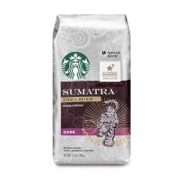 Starbucks 星巴克 非速溶烘焙黑咖啡粉 苏门答腊黑咖啡粉(深度烘焙)340g