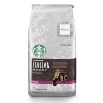 Starbucks 星巴克 非速溶烘焙黑咖啡粉 意式烘焙黑咖啡粉(深度烘焙)567g