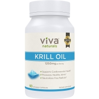 Viva Labs 冷压100% 纯南极磷虾油 心脑血管健康 1250mg*60粒