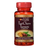 美国Puritan's Pride 普丽普莱 酸樱桃+姜黄素 60粒 改善尿酸高 缓解痛风