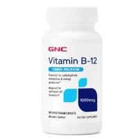 GNC  维生素B-12  1000mcg  90粒