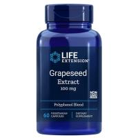 Life Extension 葡萄籽胶囊 100mg 60粒 原花青素精华白藜芦醇淡斑美白排毒抗氧化