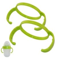 comotomo可么多么奶瓶手柄奶瓶配件两个装 绿色