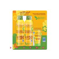 Alba Botanica天然有机绿茶防晒喷雾SPF50  2个大瓶177ml超值装