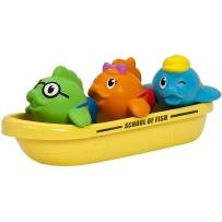 munchkin满趣健儿童宝宝戏水洗澡玩具飞鱼小船趣味喷水玩具 三件套