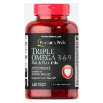 Puritan's Pride普丽普莱 深海鱼油欧米伽3-6-9omega3 120粒软胶囊 fish oil