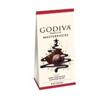 GODIVA/歌帝梵限量版假日主题Masterpiece圣诞节新款 心形黑巧克力166g