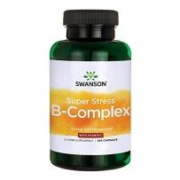 Swanson斯旺森 超级抗压维生素B族+维生素C胶囊240粒 缓解压力