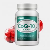 美国GNC 健安喜辅酶CoQ10软胶囊 400mg 60粒 保护心脏增强心肌动力
