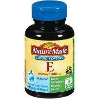 Nature Made 纯天然水溶性维生素E液体软胶囊  1000IU 60粒