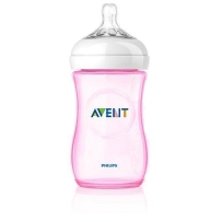 Philips飞利浦 AVENT新安怡 自然实感宽口PP奶瓶 粉红色 260ml  套装拆单