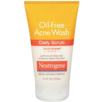 Neutrogena Oil-Free Acne Wash Daily Scrub, 4.2 Fluid Ounce