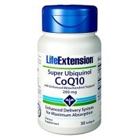Life Extension 泛醇超高吸收辅酶CoQ10软胶囊 备孕助孕精卵健康保护心脏 200mg 30粒