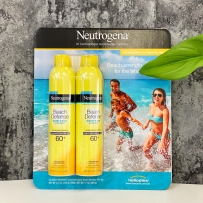 Neutrogena  露得清  海滩超防水防晒喷雾超值套装 SPF60 大瓶240g*2喷雾dhxj
