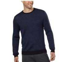 Calvin Klein男士羊毛混纺毛领脖子毛衣 蓝色