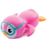 Munchkin麦肯齐发条玩具 可爱企鹅游泳儿童洗澡玩具 宝宝戏水 (粉/蓝)