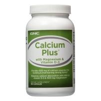 GNC钙镁VD3胶囊600mg180粒 支持骨骼健康强壮Calcium