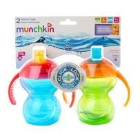 Munchkin 麦肯奇 双把手鸭嘴学饮杯  2只装 颜色随机