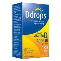 Ddrops 成人维他命D3滴剂 2000 IU  180滴