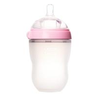 Comotomo可么多么 全硅胶宽口防胀气奶瓶 250ml 粉色