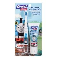 Orajel 欧乐 托马斯 儿童无氟可吞咽牙刷牙膏套装(适合3个月~4岁婴幼儿)