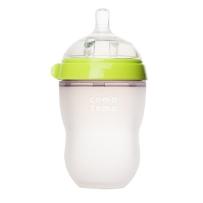 Comotomo可么多么 全硅胶宽口防胀气奶瓶 250ml 绿色