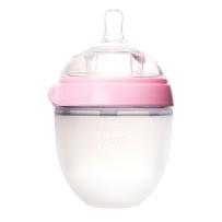 Comotomo可么多么 全硅胶宽口防胀气奶瓶 150ml 粉色