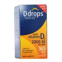 Ddrops 成人维他命D3滴剂 2000 IU  365滴