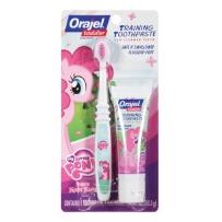 Orajel 欧乐 小马宝莉 儿童无氟可吞咽牙刷牙膏套装(适合18个月~4岁婴幼儿)