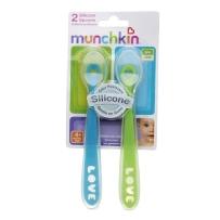 Munchkin 麦肯奇 幼儿彩色硅胶勺 两支装