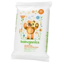 BabyGanics  甘尼克 宝宝天然便携式消毒湿巾 20片装×2包 柑橘味