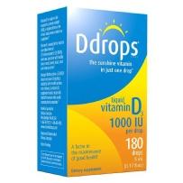Ddrops 成人维他命D滴剂 1000 IU  180滴