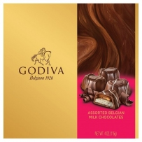 Godiva什锦牛奶巧克力黄金礼品盒115G
