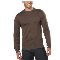 Calvin Klein男士羊毛混纺毛领脖子毛衣 棕色