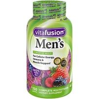 Vitafusion 小熊 成人男性复合维生素矿物质软糖软果糖抗疲劳150粒