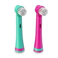 BRUSHEEZ Brusheez 动物造型儿童电池电动牙刷替换装 3岁以上儿童 小马款替换 2支装