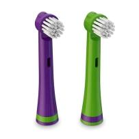 BRUSHEEZ Brusheez 动物造型儿童电池电动牙刷替换装 3岁以上儿童 鳄鱼款替换 2支装