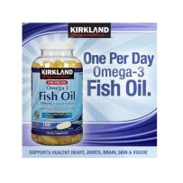 Kirkland 可兰高浓度肠溶型深海鱼油 1200mg 180粒