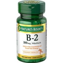 Nature'sBounty 自然之宝 维生素B2 100mg 100粒糖衣片剂