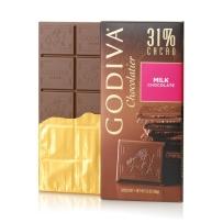 GODIVA 歌蒂梵 31% 丝滑牛奶巧克力直板排块 经典100g限量加大款