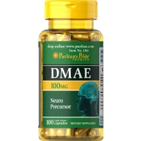 Puritan's Pride DMAE健脑胶囊  100mg 100粒 增强记忆和注意力