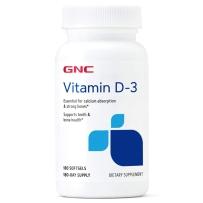 GNC维生素 D3 2000IU 180粒胶囊 增加钙吸收