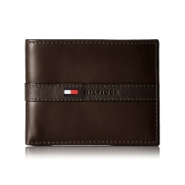 Tommy Hilfiger男士牛皮钱包专柜正品真皮汤米钱包 棕色