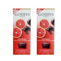 GODIVA 歌蒂梵 72% 血橙黑巧克力直板排块 90g *2块装