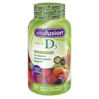 Vitafusion 小熊  成人维生素D3软糖 2000IU 桃子黑莓草莓口味150粒
