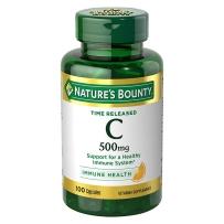 Nature's Bounty自然之宝天然维生素C500mg100粒无糖儿童女性VC维C美白肤色免疫力