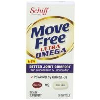 Schiff  Move Free 骨胶原维骨力 含虾青素  30粒