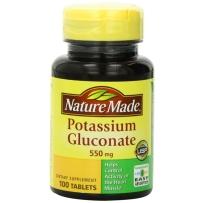 Nature Made  葡萄糖酸钾片 550mg  100粒