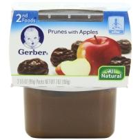 Gerber 嘉宝 2段 西梅苹果泥 2套装 (99克×4)